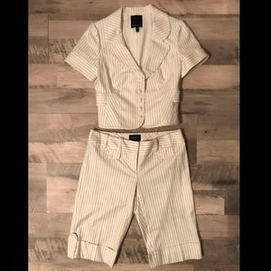 The Limited Pinstripe Suit